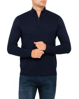 Ls Half Placket Funnel Neck