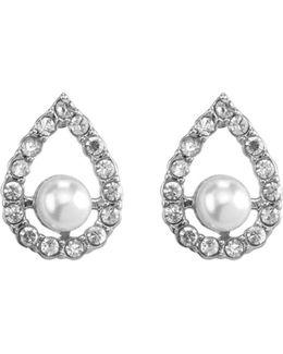 Velvet Ocean Teardrop Pearl Stud Earrings
