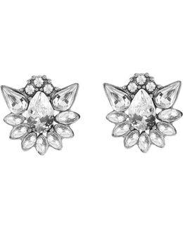 Midnight Dahlia Stud Earrings