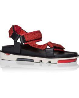 Sport Sandal W/ Xl Sole And Pop Straps