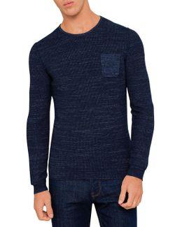 Blue Twisted Yarn Knitwear