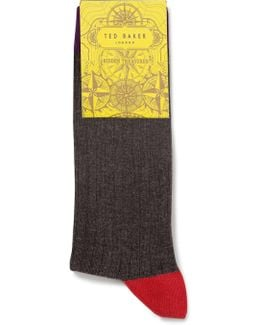 Org Contrast Heel And Toe Sock