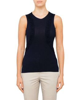 Sleeveless T-shirt With Front Detail