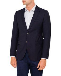Single Breasted Modern Line Wool Blazer