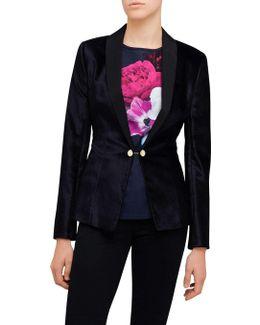 Katcia Velvet Tuxedo Jacket