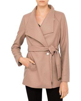Elethea Short Wrap Coat
