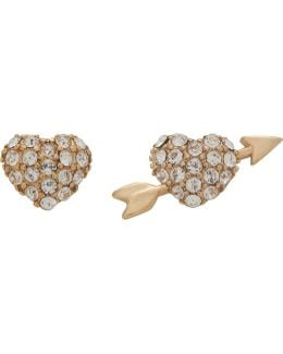 Hearts And Arrow Studs