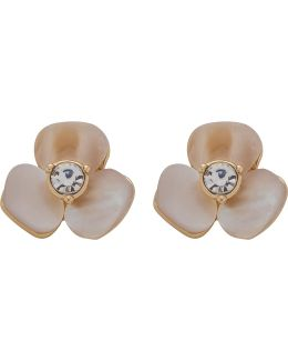Disco Pansy Studs