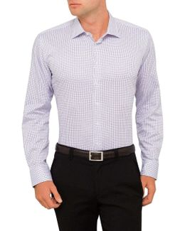 Fine Tattersal Check Slim Fit Shirt