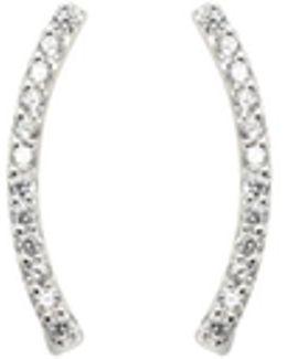 Azure Cuff Earrings - Silver
