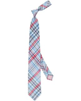 Padday Check Linen-blend Tie