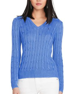 Kimberly V Neck Polo Knit