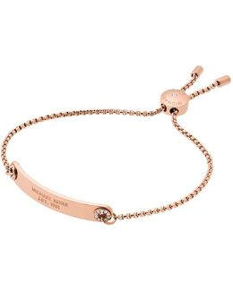 Iconic Stainless Steel Rose Gold-tone-tone Bracelet