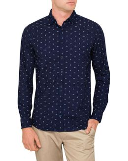 Small Spaced Paisley Print Shirt