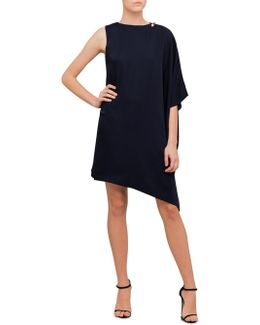 Aubreey Oversized Drape Front Dress