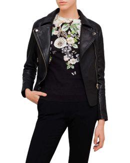 Lizia Biker Leather Jacket