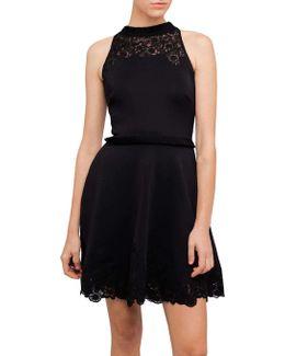 Zaffron Emb A-line Pleat Dress