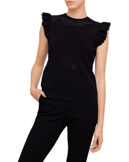 Jesile Frilled Stitched Detail Top