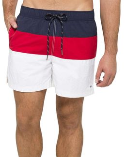 Rwb Color Block Swim Trunk
