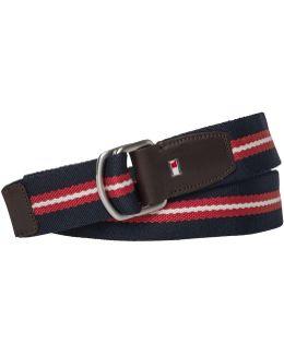 Th Stripe Webbing Belt