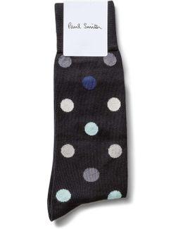 Teacup Polka Sock