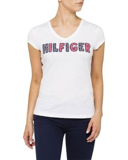 Hilfiger Mini Flowers Applique Tee