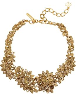 Millegrain Petal Necklace