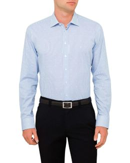 Stripe Diamond Dobby Slim Fit Shirt