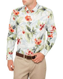 Mediterranean Floral Shirt