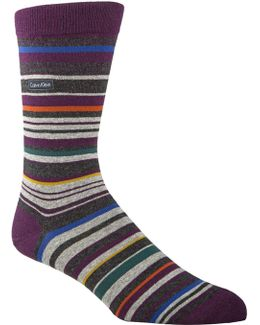 Barcode Multi-stripe Sock