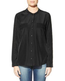 Longsleeve Aden Silky Lace Mix Shirt