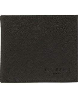 Two Tone Leather 4cc Bifold W/ Coin Pouch