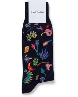 Earth Floral Sock