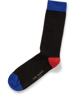 Contrast Heel And Toe Organic Sock