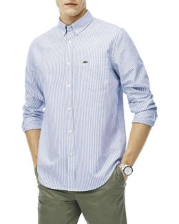 Reg Fit Stripe Oxford Shirt