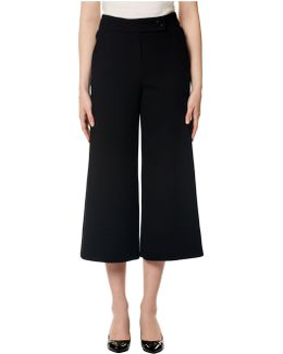 Textured Cropped Trouser