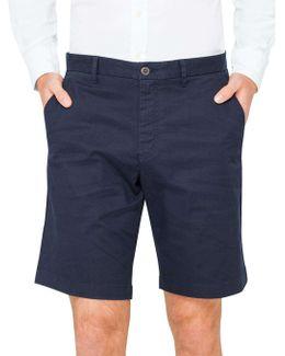 Textured Cotton Shorts