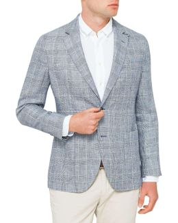 Prince Of Wales Check Half Lined Jacket