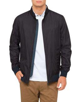 Blk Nylon Harrington Jacket