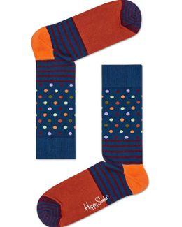 Stripes & Dot Sock