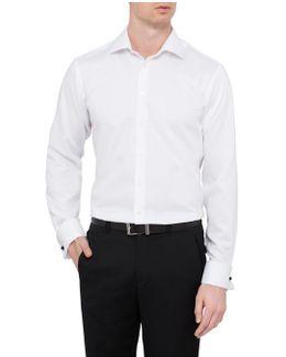 Slim Fit Nailhead Business Shirt