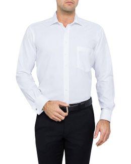 Hawkes Herringbone Shirt Regular Fit Double Cuff