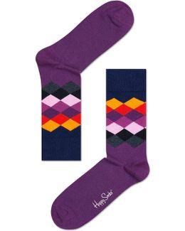 Faded Diamond Socks