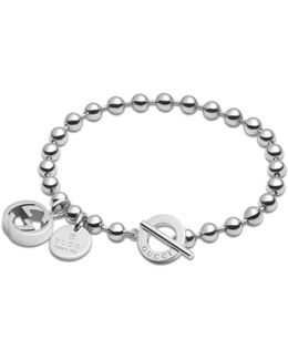 Bracelet In Silver With Boule Chain
