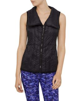 Down Filled Drama Collar Vest