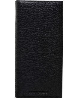 Linea Luxor Pebbled Leather 8cc Vertical Coat Wallet