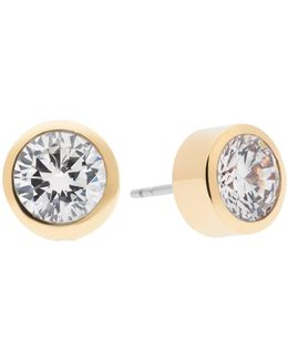 Park Avenue Glam Jeweled Stud Earrings/goldtone