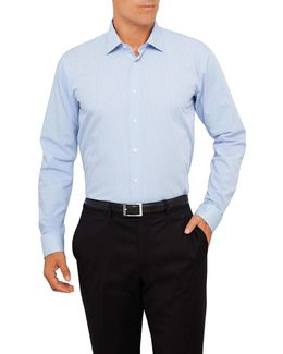 Ck Slim Fit Shirt French Cuff Blue