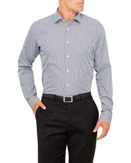 Ck Slim Fit Shirt Navy Check