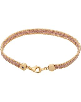 Peach Blush Woven Biography Bracelet